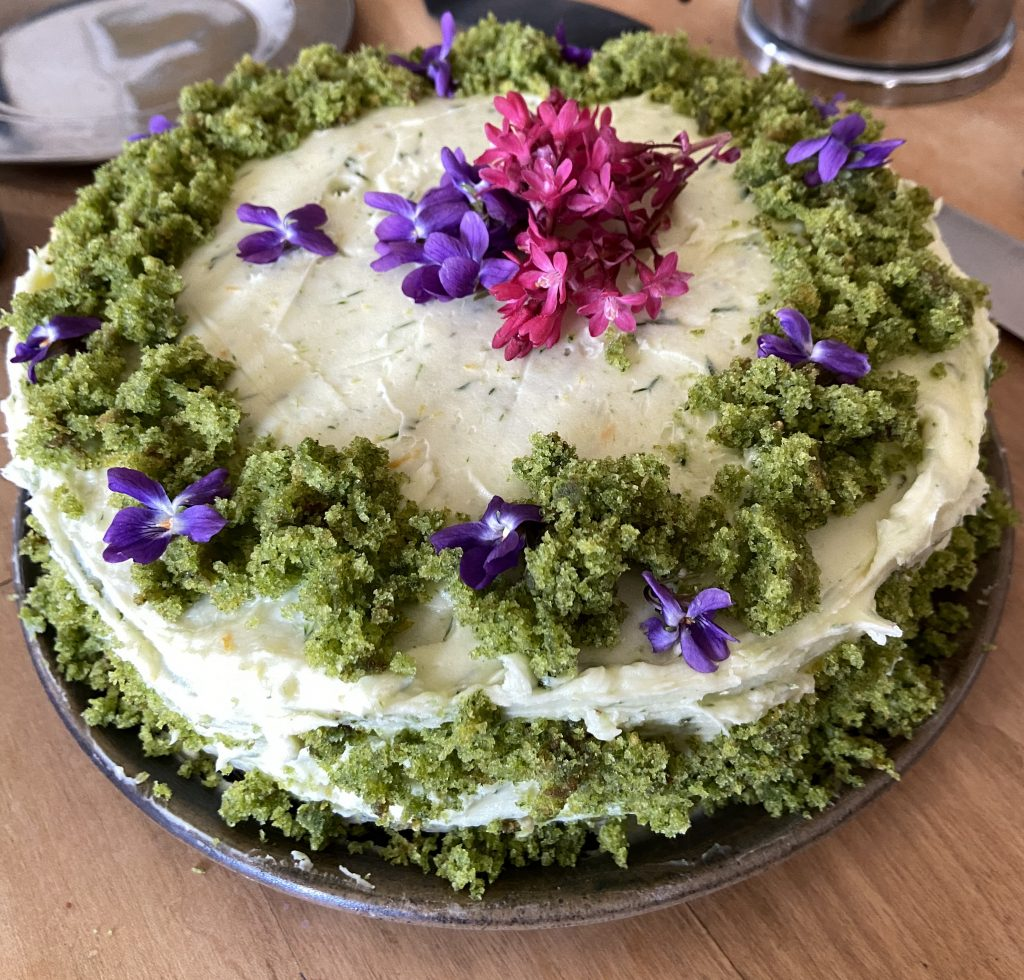 The Wondersmith Nettle Cake Red Currant Flowers Violet Flowers