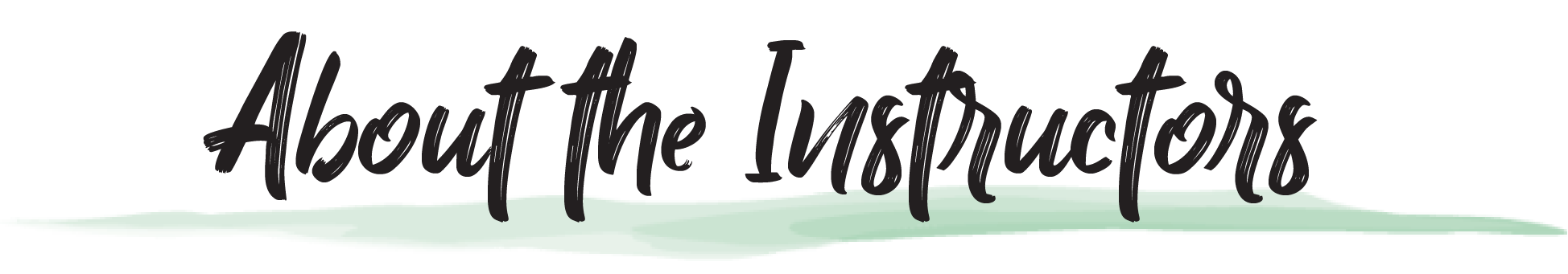 About Instructors